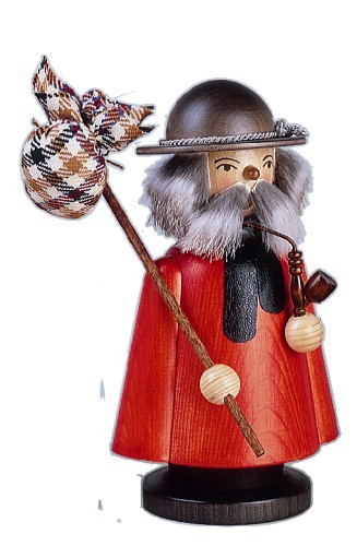 Incense Smoker hiker stained 23cm