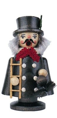 Smoker chimney sweep stained 13cm