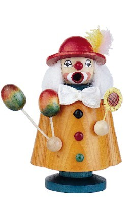 Smoker clown stained 13cm