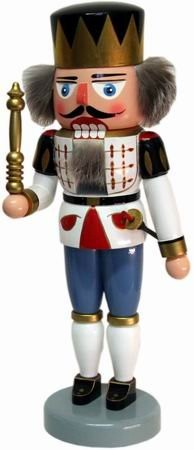 Erzgebirge nutcracker King White 12.60 inch