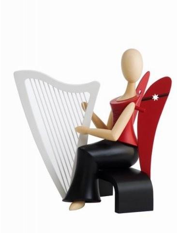 Angel Sternkopf with harp sitting