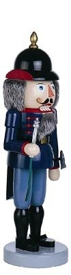 Nutcracker firefighter blue 49cm