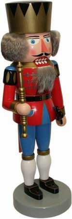 Erzgebirge nutcracker king red 46cm